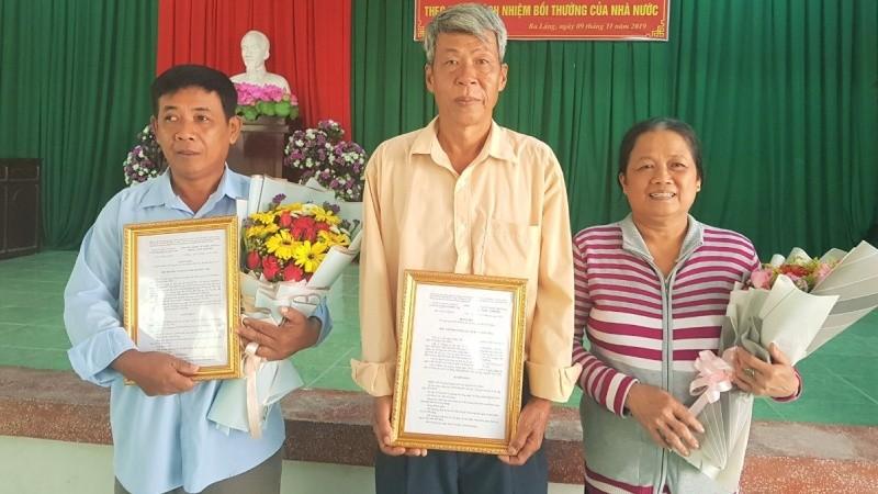 Hơn 20 năm bị oan sai, ông Triều và gia đình ông Tuân được bồi thường trên 900 triệu