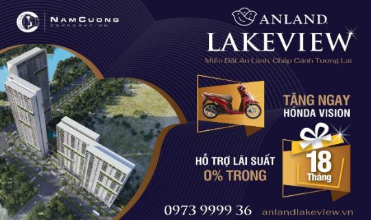 Nhiều ưu đãi hấp dẫn trong chính sách bán hàng của dự án Anland Lakeview