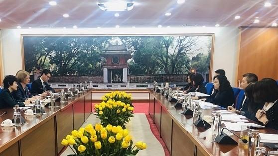 Quang cảnh buổi tiếp và làm việc giữa Thứ trưởng Bộ Tài chính với Đại sứ New Zealand tại Việt Nam