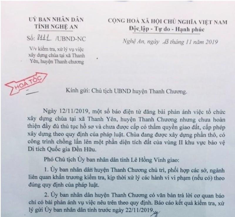 Huyện Thanh Chương (Nghệ An): Dấu hiệu xử lý chưa nghiêm công trình vi phạm