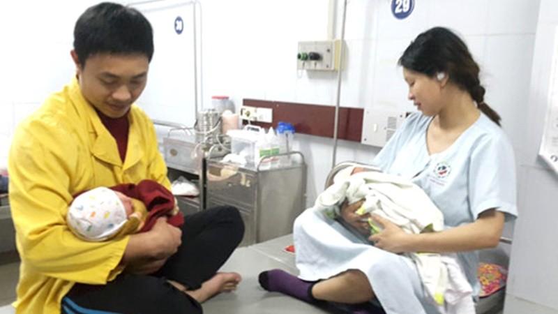 Lao động nam được nhận chế độ thai sản khi vợ sinh con. (Ảnh minh họa)