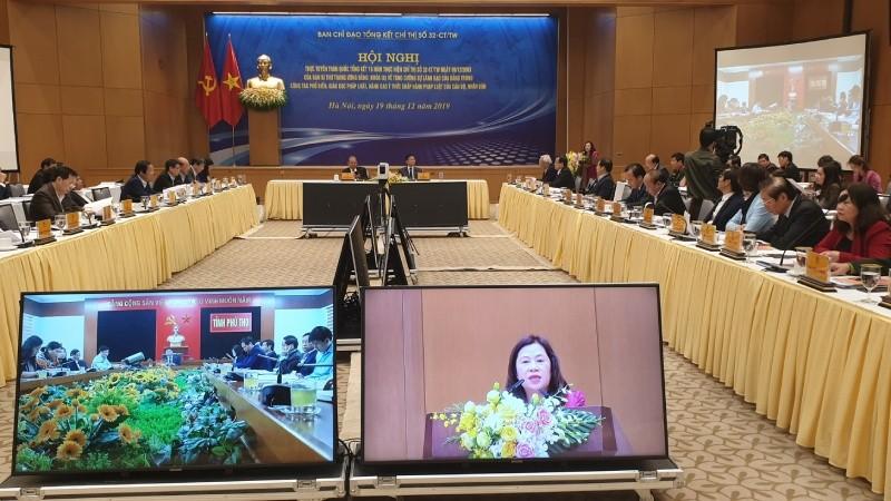 Hội nghị trực tuyến toàn quốc tổng kết 15 năm thực hiện Chỉ thị số 32-CT/TW