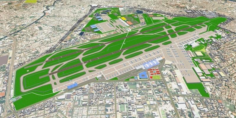 Quy hoạch sân bay Tân Sơn Nhất giai đoạn 2020 và tầm nhìn đến 2030. Ảnh VNN