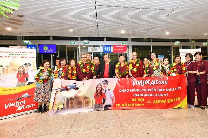Vietjet tiên phong khai trương hai đường bay thẳng từ Việt Nam tới New Delhi