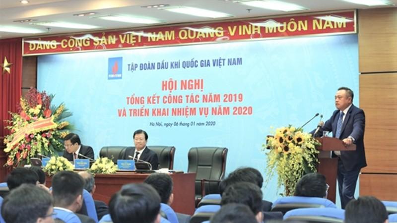 Chủ tịch PVN Trần Sỹ Thanh cam kết sẽ nỗ lực hoàn thành các chỉ tiêu năm 2020