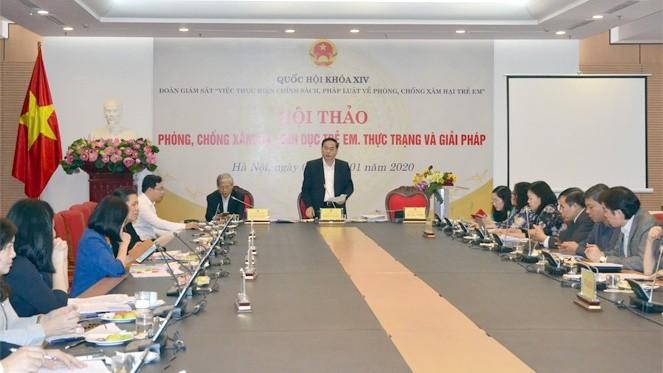 Hội thảo diễn ra sáng qua (8/1) tại trụ sở Văn phòng Quốc hội