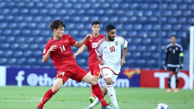 U23 Việt Nam chia điểm với U23 UAE. (Ảnh: Nguyên An/Vietnam+)