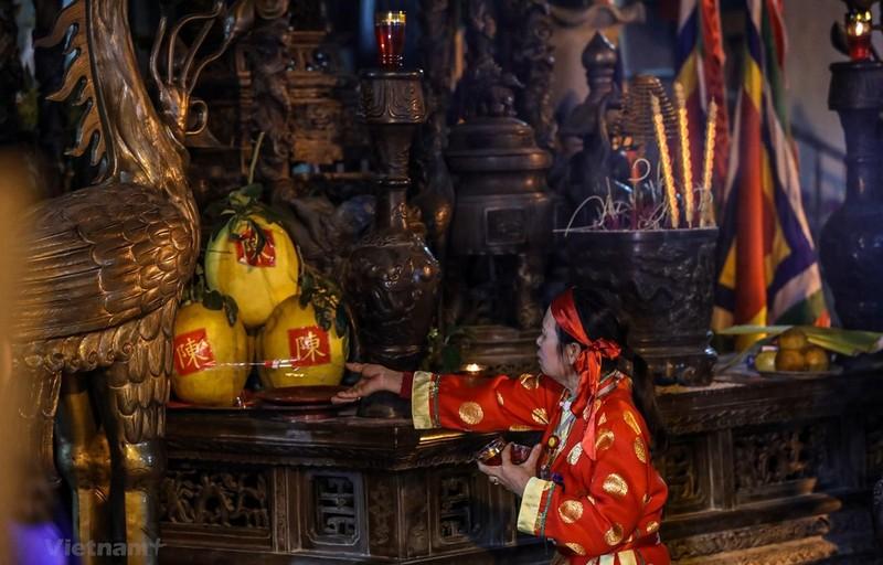 Hình ảnh tại lễ khai ấn Đền Trần năm 2019. (Ảnh: PV/Vietnam+)
