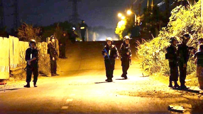 Công an truy tìm nghi can Tuấn ở xã Trung An, huyện Củ Chi
