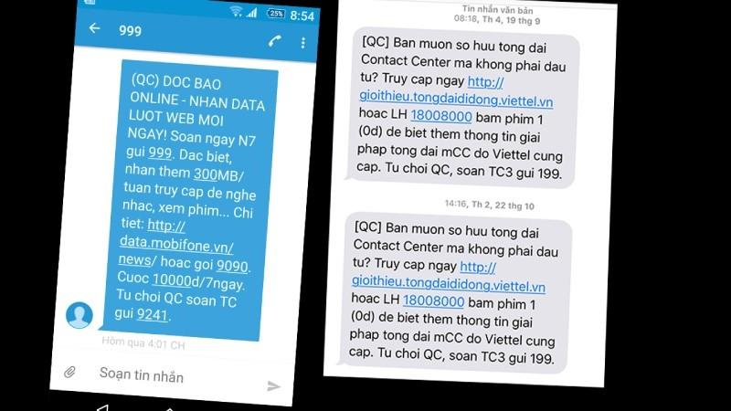 Hạn chế tin nhắn rác: Tăng mạnh chế tài xử phạt