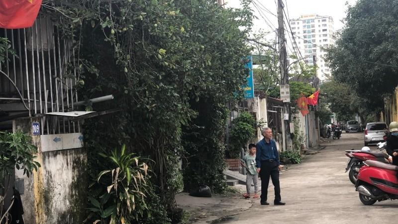 Lối vào khu vực 105 hộ dân sinh sống