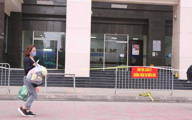 Hà Nội phong tỏa toà 34T Trung Hoà Nhân Chính vì có người dương tính SARS-Cov-2 - ảnh 2