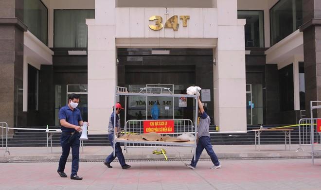 Hà Nội phong tỏa toà 34T Trung Hoà Nhân Chính vì có người dương tính SARS-Cov-2 - ảnh 3