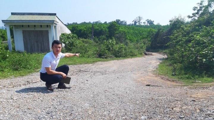 """Công trình """"Đường vào khu sản xuất Cây Mang xã Hồng Hóa"""""""