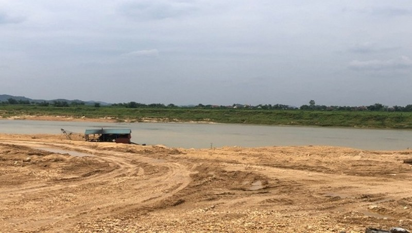 Mỏ cát tại xã Nghĩa Đồng của DNTN Hải Đường bị tạm đình chỉ