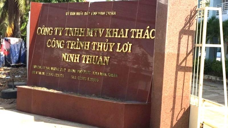 Công ty TNHH MTV Khai thác công trình thủy lợi Ninh Thuận