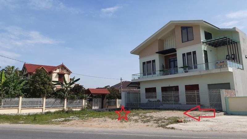 Diện tích đất gia đình ông Võ Đình Ngọc còn lại sau khi làm đường giai đoạn 1