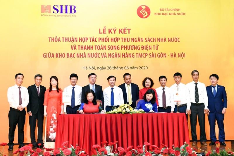 Kho bạc Nhà nước và SHB hợp tác phối hợp thu ngân sách và thanh toán song phương