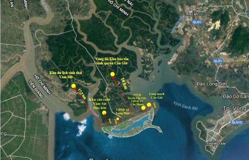 Bản đồ vị trí của dự án trong mối tương quan với khu vực xung quanh
