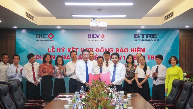 BIC và BTRE ký kết hợp đồng bảo hiểm Dự án Nhà máy Điện gió Bến Tre V1-3