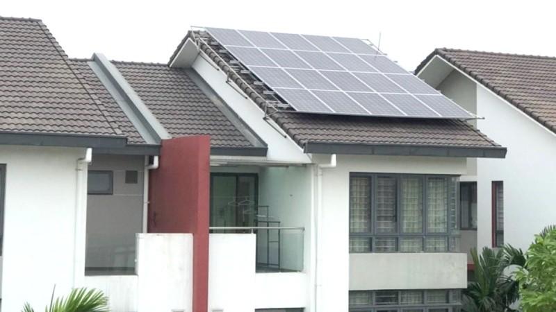 Điện mặt trời mái nhà lắp đặt ở khu đô thị Gamuda