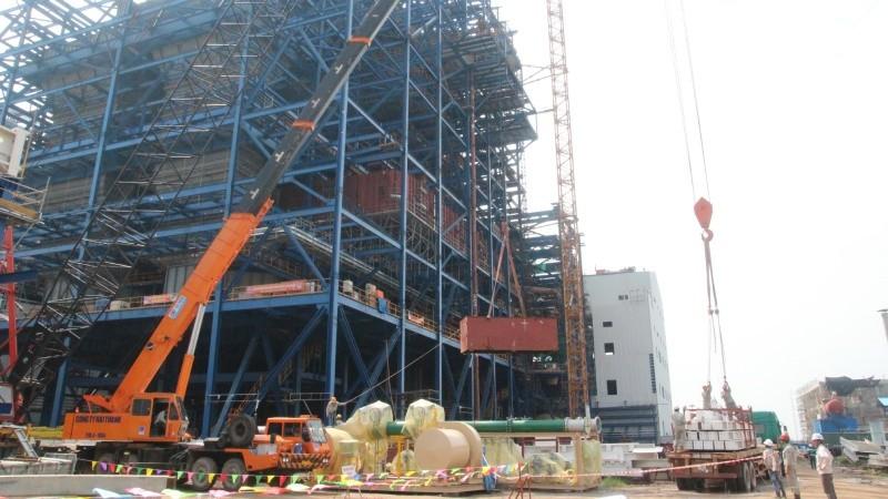 Một góc dự án Nhà máy nhiệt điện Thái Bình 2