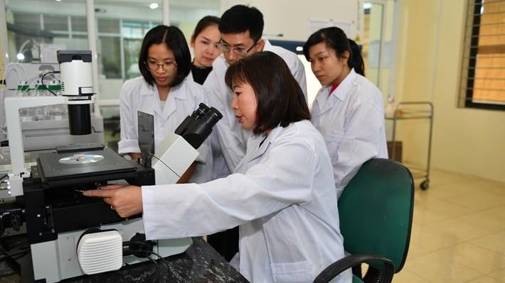 PGS Hà trong phòng nghiên cứu và thực nghiệm.