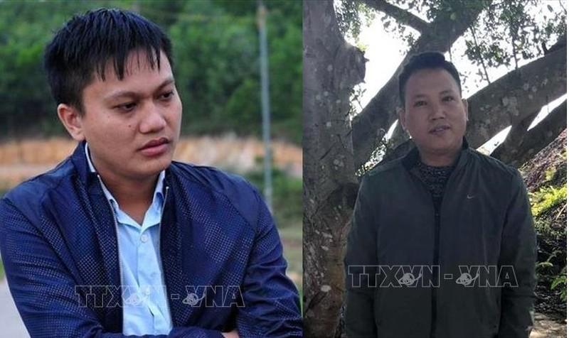 Hoàng Văn Trình (trái) và Nguyễn Văn Điệp. Ảnh: TTXVN