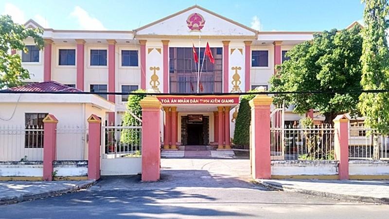 TAND tỉnh Kiên Giang - nơi xét xử sơ thẩm vụ kiện.