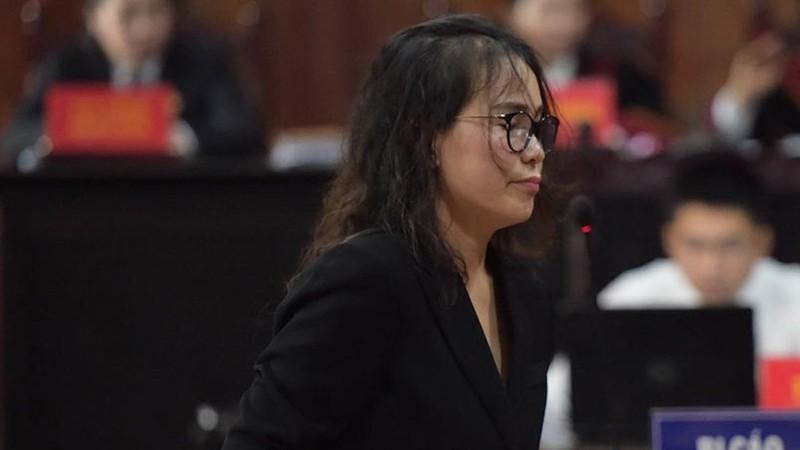 Bị cáo Thúy tại phiên tòa sáng 18/9.