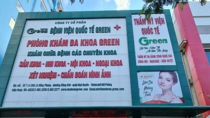 """""""TMV Quốc tế Green"""" trực thuộc BV Quốc tế Green."""