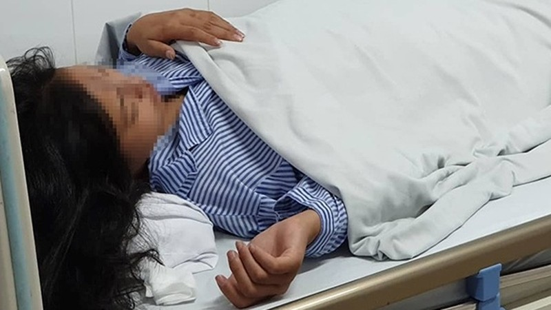 Cháu H thời điểm được điều trị tại Bệnh viện Da liễu Trung ương.