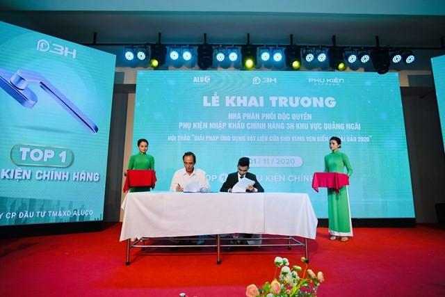 Lễ ký kết hợp đồng đại lý phân phối độc quyền phụ kiện chính hãng 3H tại Quảng Ngãi