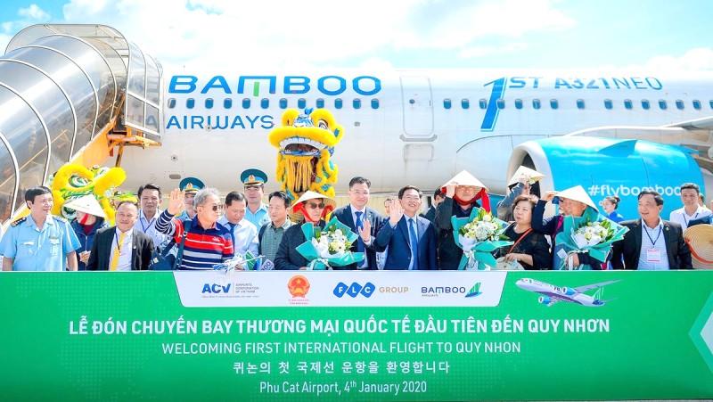 Bình Định đón chuyến bay quốc tế đầu tiên trong năm 2020.