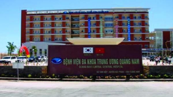 Bệnh viện Đa khoa Trung ương Quảng Nam.