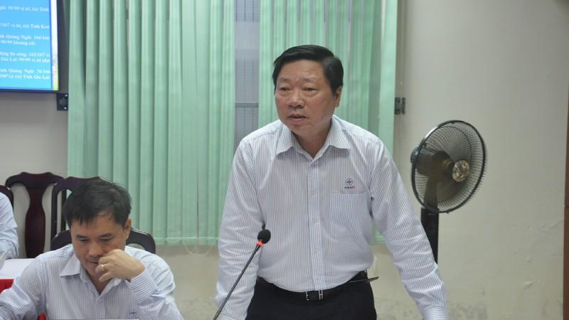 Ông Nguyễn Đức Tuyển – Giám đốc CPMB báo cáo tiến độ dự án.