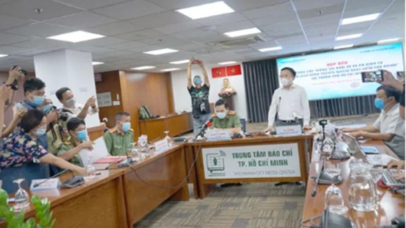 """TP HCM tổ chức họp báo cung cấp thông tin khởi tố vụ án hình sự """"Lây lan dịch bệnh truyền nhiễm nguy hiểm cho người"""" (nguồn: internet)"""