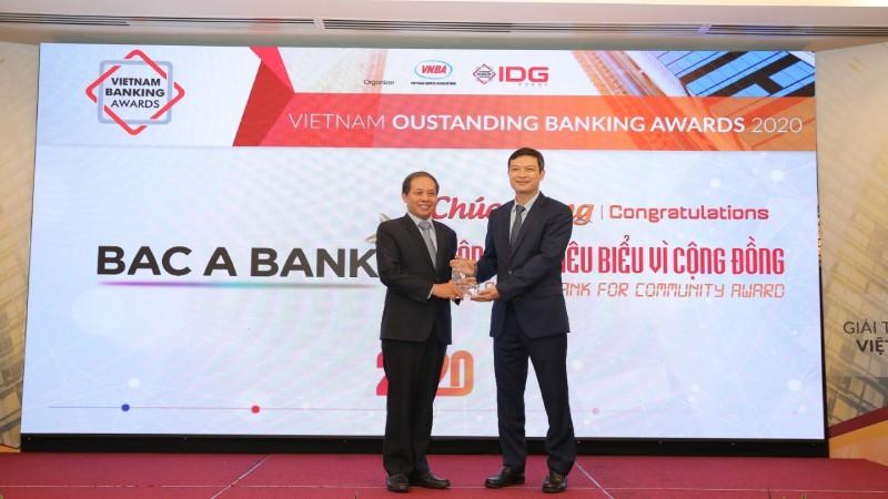 BAC A BANK được vinh danh Ngân hàng tiêu biểu vì cộng đồng 2020