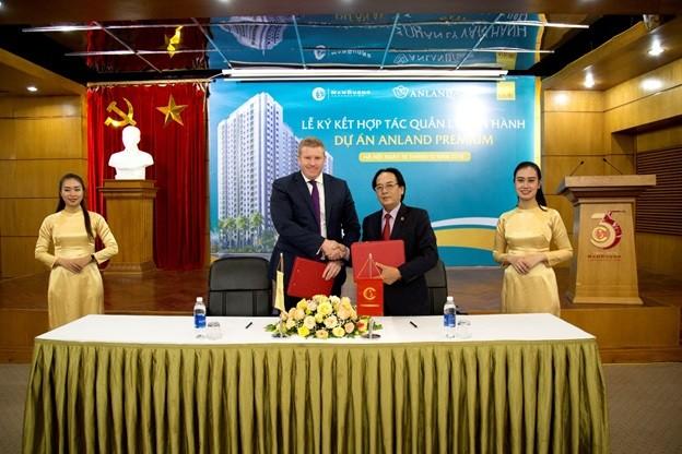Lễ ký kết vận hành dựa án Anland Premium giừa Tập đoàn Nam Cường và Savills