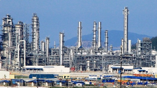 Một góc Nhà máy Lọc hóa dầu Nghi Sơn.