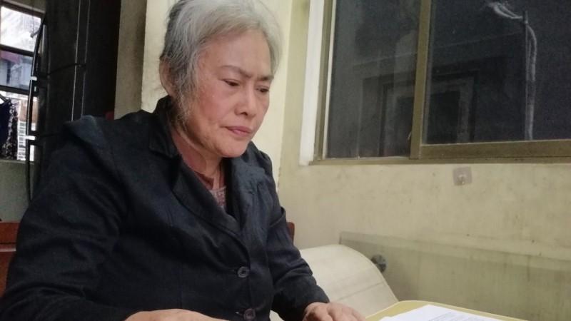 Bà Đỗ Thị Phương cho rằng mình bị làm giả hợp đồng.