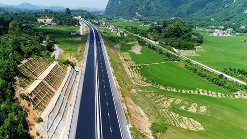 Phối cảnh một đoạn Cao tốc Hòa Bình - Mộc Châu.