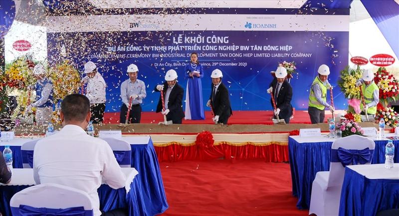 Tập đoàn Hòa Bình khởi công xây dựng hai dự án mới tại Bình Dương