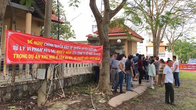 Dự án Tân An Huy từng một số lần bị người dân tố cáo có sai phạm.