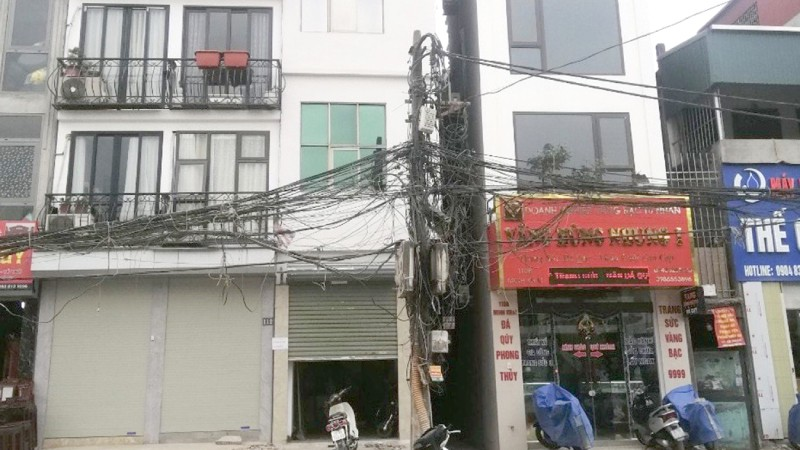 Nhà đất tại số 112 phố Minh Khai (ở giữa).