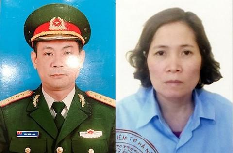 Bị cáo Hoa Hữu Long - kẻ giả danh cán bộ lãnh đạo trong Quân đội và vợ Cao Thị Kim Loan. Ảnh Báo Công an TPHCM