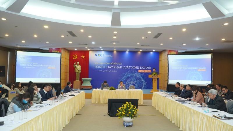 VCCI công bố Báo cáo Dòng chảy pháp luật kinh doanh 2020.