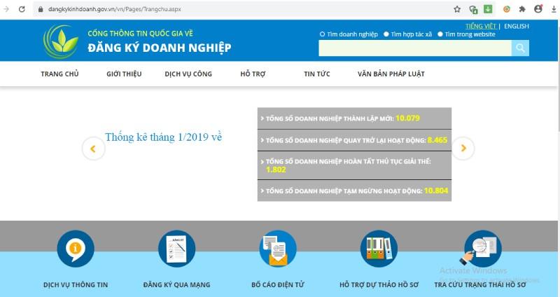Hồ sơ đăng ký doanh nghiệp qua mạng thông tin điện tử