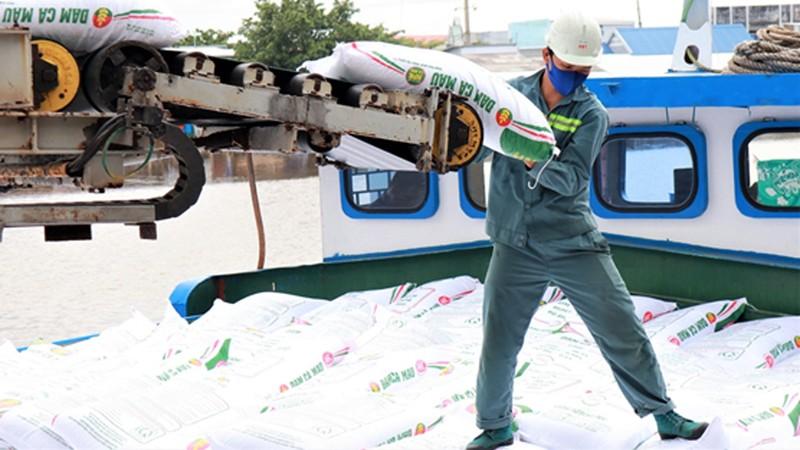Người lao động tại Công ty CP Phân bón Dầu khí Cà Mau.