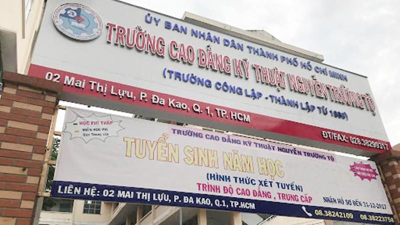 Trường Cao đẳng Kỹ thuật Nguyễn Trường Tộ (TP HCM): Sai sót trong đấu thầu mua sắm tài sản công
